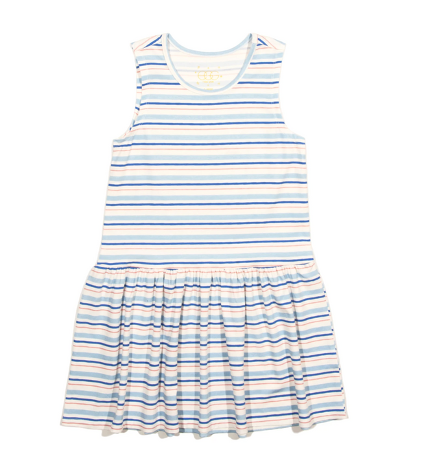 Cami Dress in Blue Stripe