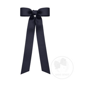 mini grosgrain bow with tails