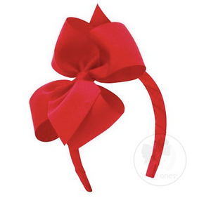 Small Grosgrain Headband with Bow