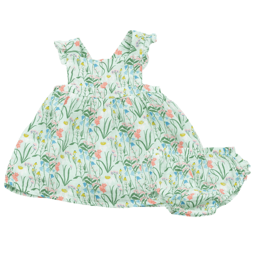1z 2z 3z summer morning angel dear pinafore dress bloomer set baby toddler boutique muslin clothing