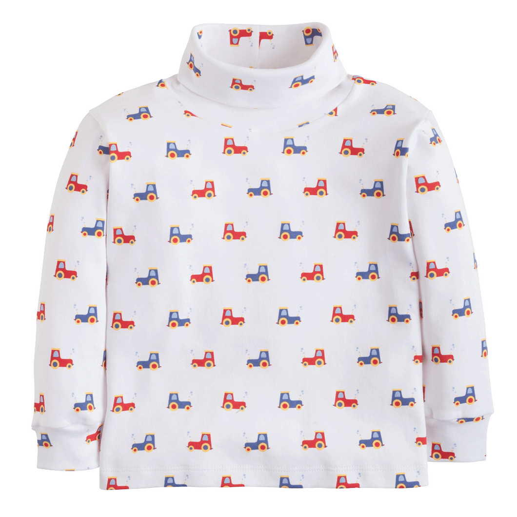 1z 2z 3z tractor printed turtleneck little english baby toddler childrens boutique