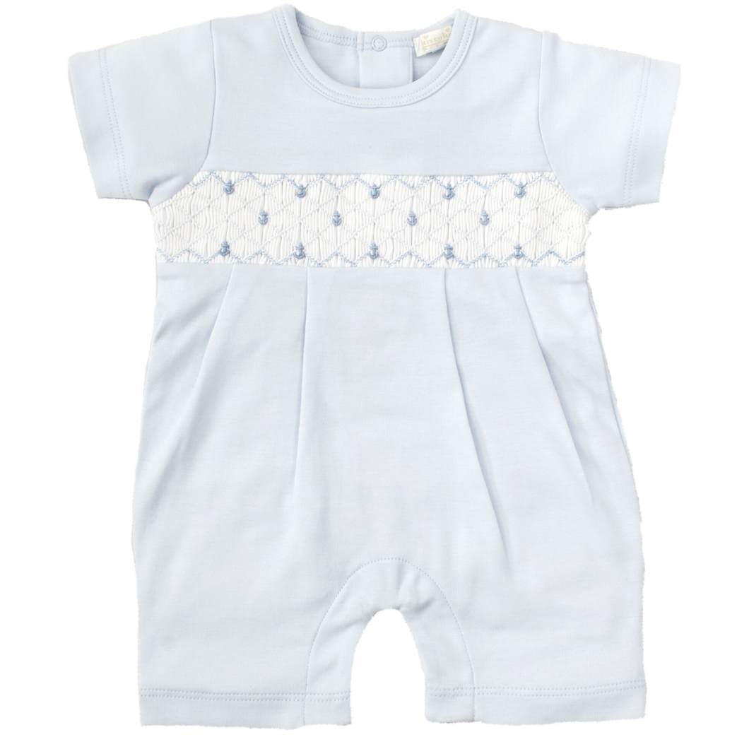 CLB Summer Anchors Short Playsuit with Hand Smocking