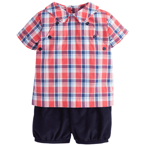 Walker Short set frierson plaid by little english toddler and baby boutique clothing classic