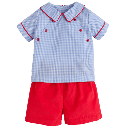 1z 2z 3z walker short set cherry little english baby boy childrens toddler