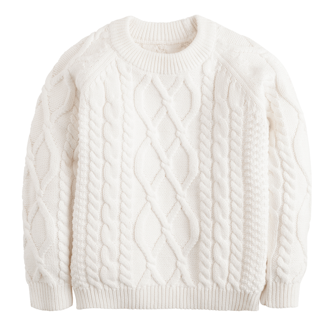 1z 2z 3z white cable knit sweater by little english classic children and toddler boutique clothing