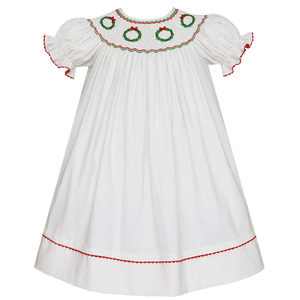 1z 2z 3z wreath corduroy dress bishop style classic childrens holiday clothing