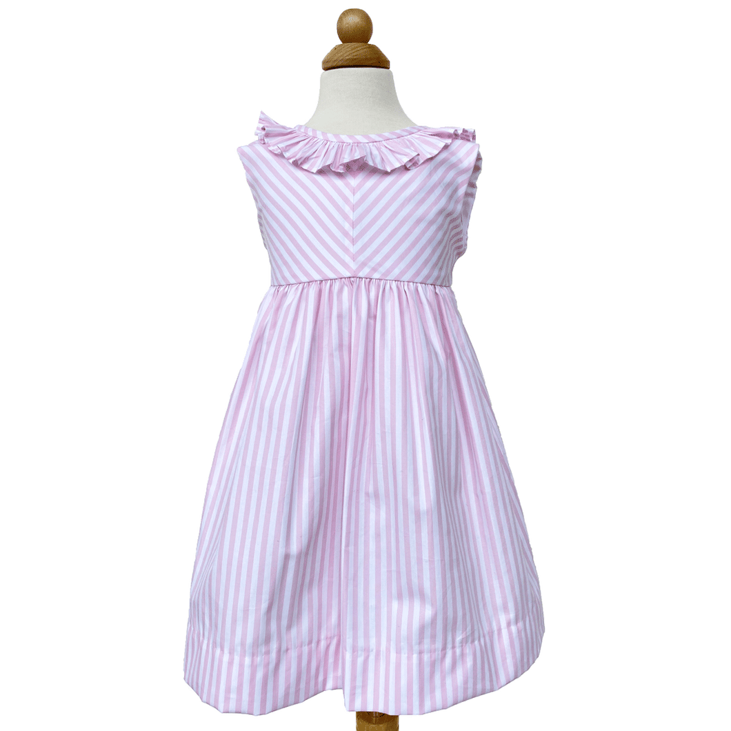 Pink and White Stripe Trish Dress