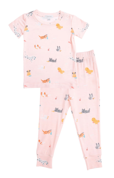 Puppy Play Pink 2-pc PJ