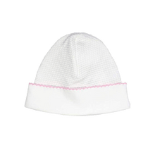 White Bubble Hat with Trim