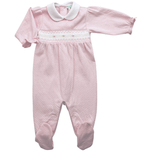 Sweet Pink Smocked Footie