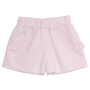 Basic Girl Mini Gingham Seersucker Short