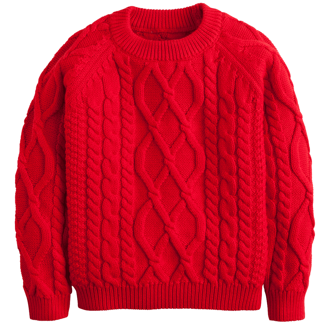 1z 2z 3z red cable knit sweater little english children and toddler classic clothing boutique