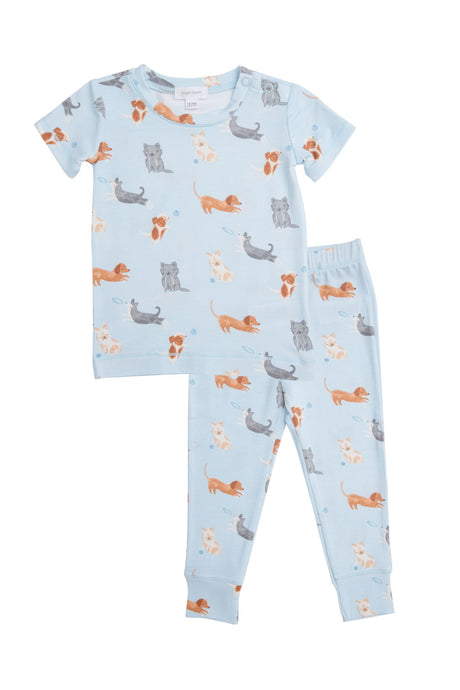 Puppy Play Blue 2-pc PJ