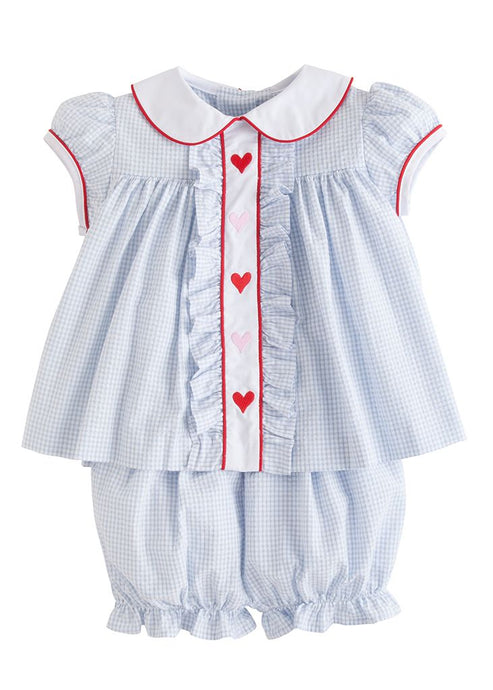 Hearts Ruffled Sally Bloomer Set