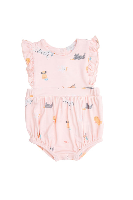Puppy Play Pink Ruffle Sunsuit
