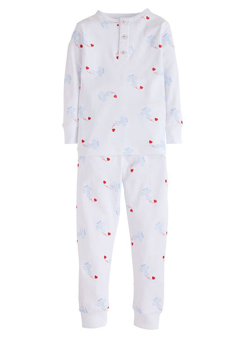 Boy Airplane & Hearts 2-pc PJ