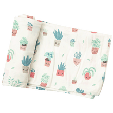 House Plant Modal Swaddle Blanket