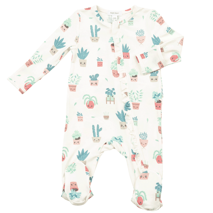 1z 2z 3z house plant zipper footie angel dear baby girl clothing