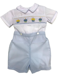 Smocked Birthday Button-On