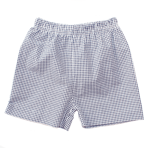 Basic Boy Mini Gingham Seersucker Short