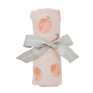 Peachy Muslin Swaddle Blanket