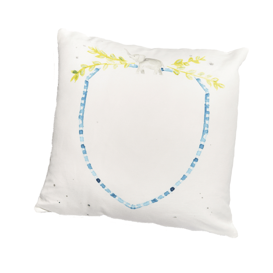 Blue Crest Pillow
