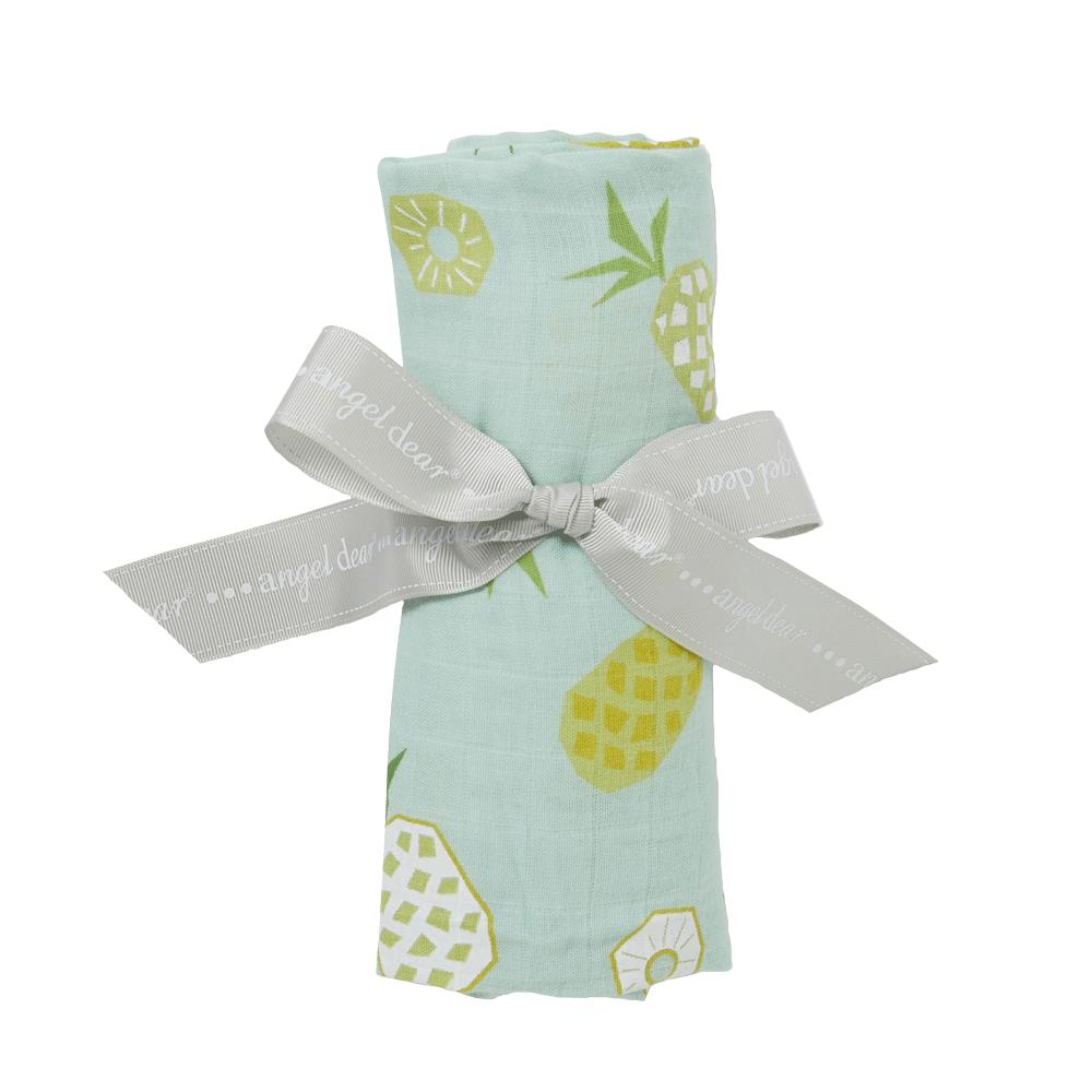 Pineapple Muslin Swaddle Blanket