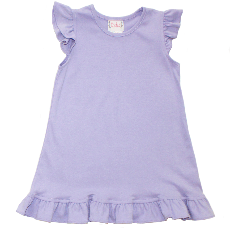 Basic Girl Lavender Angel Sleeve Dress