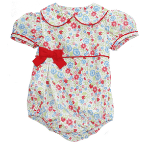 Basic Girl Bubble in Strawberry Floral Print