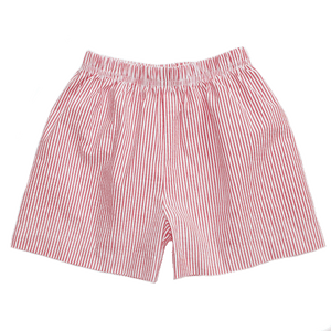 Basic Boy Thin Stripe Seersucker Short