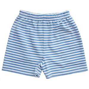 Basic Boy Blue Stripe Knit Short