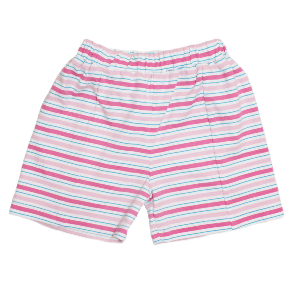 Basic Girl Multi Stripe Knit Short in Pink and Blue