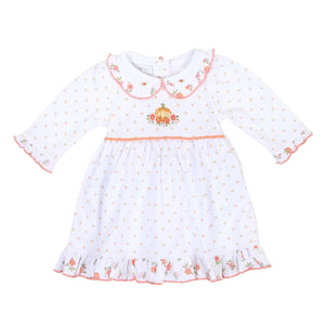 Autumns Classic Embroidered Collared Dress Long Sleeve