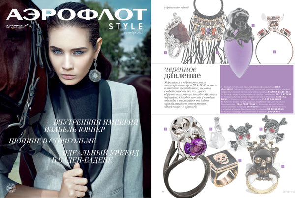 Aeroflot features Violet Darkling's Tariser Ring
