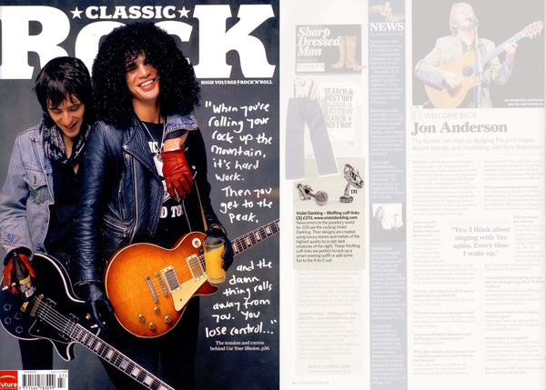 Classic Rock features Violet Darkling's Cufflinks