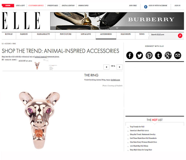 Elle features Violet Darkling's Fossa Ring