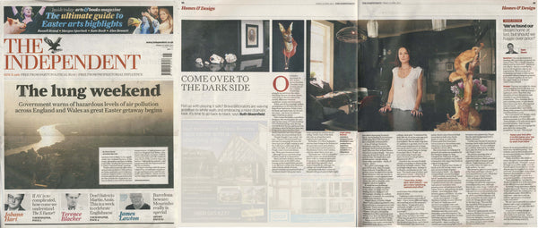 Violet Darkling's designer Louisa Richwhite in the Independent