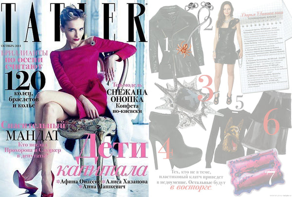 Tatler features Violet Darkling's Spider Bow Earrings