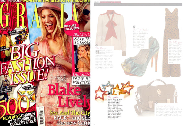 Violet Darkling Star Rings in Grazia