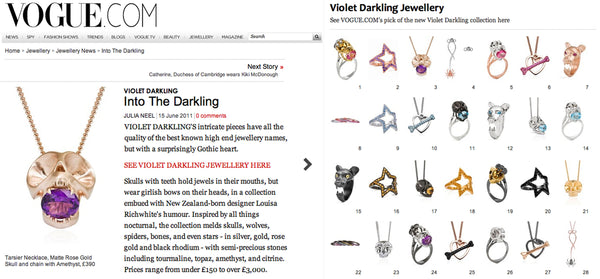 Vogue.com features Violet Darkling