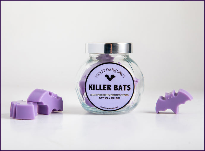 Bats, Grape Hubba Bubba scented, Wax Melts, Violet Darkling