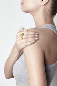 Yellow Gold Fossa Ring, Citrine by Violet Darkling