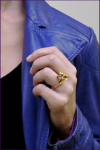Yellow Gold Jerboa Ring