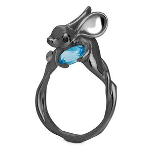 Matte Black Jerboa Ring by Violet Darkling
