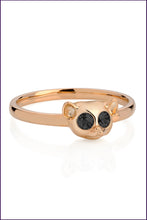 Rose gold Slow Loris Ring. Violet Darkling