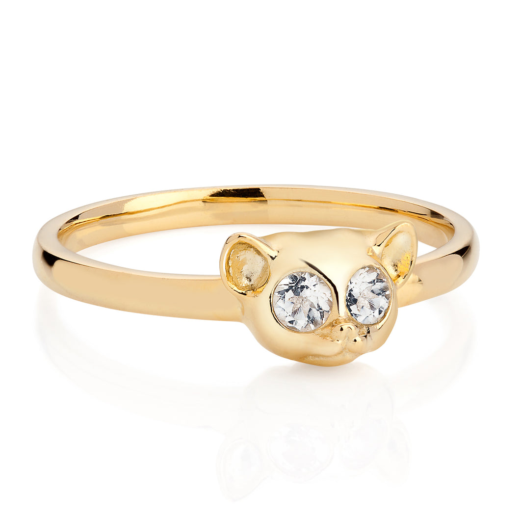 Yellow Gold Hypnotic Loris Ring