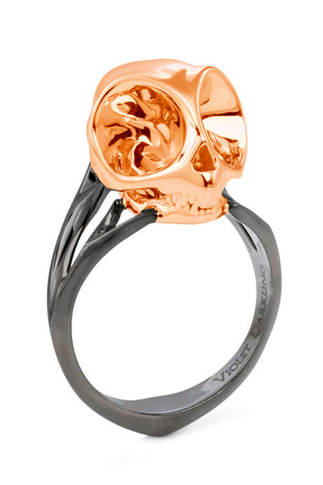 Rose Gold Tarsier Skull Ring