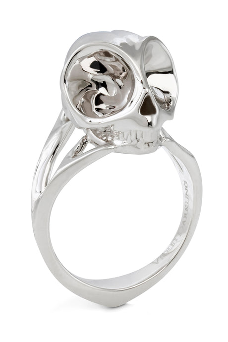 Silver Tarsier Ring by Violet Darkling