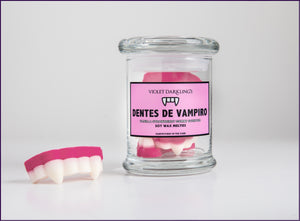Wax Melt Vampire Teeth, Vanilla Strawberry, Violet Darkling
