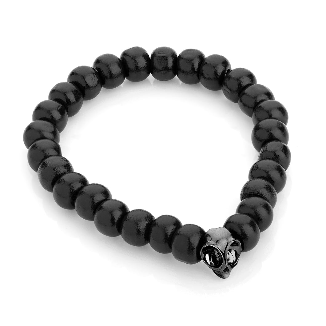 Black Tarsier Bead Bracelet by Violet Darkling